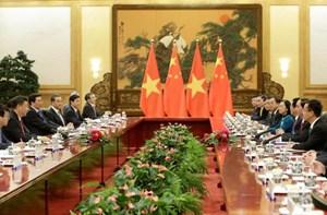 Chủ tịch nước Trần Đại Quang hội đàm với Chủ tịch Trung Quốc