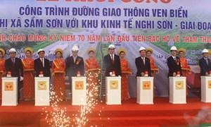 Chủ tịch nước Trần Đại Quang khởi công đường ven biển tại Thanh Hóa