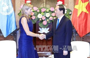 Chủ tịch nước Trần Đại Quang tiếp Hoàng hậu Vương quốc Hà Lan