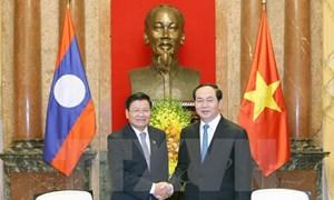 Chủ tịch nước Trần Đại Quang tiếp Thủ tướng Lào Thongloun Sisoulith