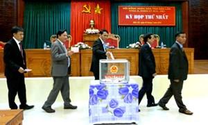 Chủ tịch, Phó Chủ tịch HĐND tỉnh Đắk Lắk trúng cử với 100% số phiếu