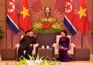 Chủ tịch Quốc hội hội kiến Chủ tịch Triều Tiên