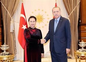 Chủ tịch Quốc hội Nguyễn Thị Kim Ngân hội kiến Tổng thống Thổ Nhĩ Kỳ