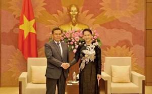 Chủ tịch Quốc hội Nguyễn Thị Kim Ngân tiếp đoàn Mặt trận Lào