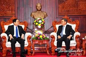 Chủ tịch Trần Thanh Mẫn gửi điện mừng Chủ tịch Mặt trận Lào xây dựng đất nước
