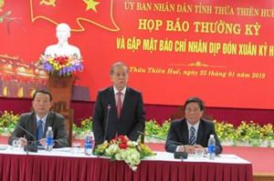 Chủ tịch UBND Thừa Thiên - Huế cám ơn báo chí đồng hành, chia sẻ với địa phương
