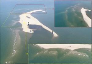 Cồn cát Hội An tiếp tục bồi về hướng Đông Bắc