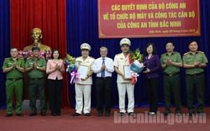 Công an tỉnh Bắc Ninh có hai tân Phó Giám đốc