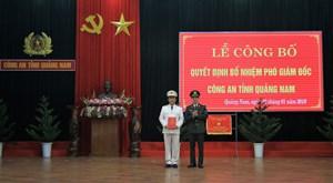 Công an tỉnh Quảng Nam có thêm một Phó giám đốc