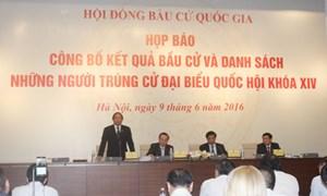 Công bố kết quả bầu cử đại biểu Quốc hội