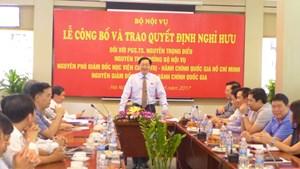 Công bố quyết định công tác cán bộ của Ban Bí thư, Bộ trưởng Nội vụ