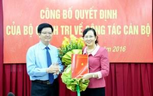 Bà Lê Thị Thủy làm Phó Chủ nhiệm Ủy ban Kiểm tra TW