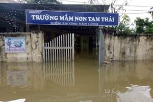 Công điện khẩn của Bộ GD- ĐT về mưa lũ trước ngày khai trường