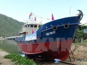 Công ty Nam Triệu đã bàn giao 1 tàu vỏ thép cho ngư dân