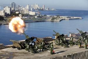 Cuba bắn đại bác cử hành tang lễ Lãnh tụ Fidel Castro