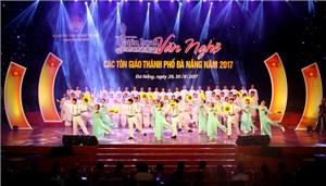 Đà Nẵng: Liên hoan văn nghệ các tổ chức tôn giáo năm 2017