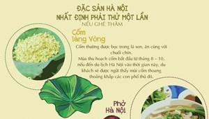 Những đặc sản bạn nhất định phải thử nếu ghé thăm Hà Nội