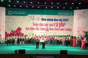 Đắk Lắk đoạt giải nhất 'Nhà nông đua tài các tỉnh Tây Nguyên 2017'