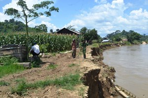 Đắk Lắk:  Lo lắng vì sông 'nuốt đất'
