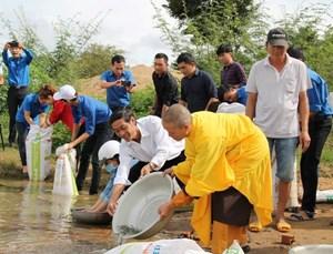 Đắk Lắk thả cá giống tái tạo nguồn lợi thủy sản