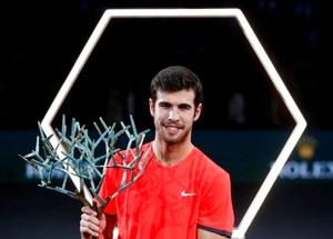 Đánh bại Djokovic, Khachanov gây sốc với danh hiệu vô địch Paris Masters