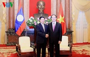 Dành ưu tiên cao cho vịệc giữ gìn và phát huy mối quan hệ đoàn kết đặc biệt Việt Nam - Lào