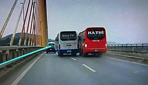 Đánh võng trên cầu Bãi Cháy, 2 lái xe khách bị tước giấy phép