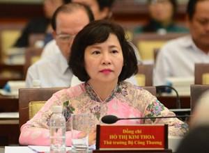 Đề nghị miễn nhiệm các chức vụ của bà Hồ Thị Kim Thoa