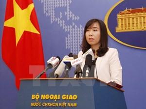 Đề nghị tôn trọng chủ quyền của Việt Nam đối với quần đảo Trường Sa