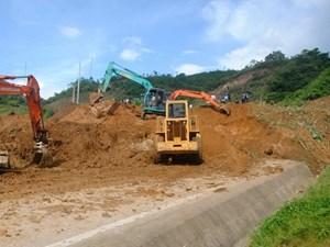 Điện Biên: Xuất hiện nhiều điểm sạt lở trên Quốc lộ 12