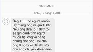 Điều tra tin nhắn tống tiền một cán bộ ở Quảng Nam
