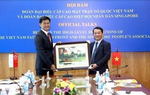 Đoàn cấp cao UBTƯ MTTQ Việt Nam thăm và làm việc tại Cộng hòa Singapore