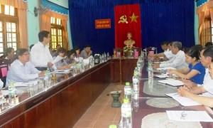 Đoàn giám sát UB MTTQ tỉnh Quảng Nam về làm việc tại huyện Bắc Trà My