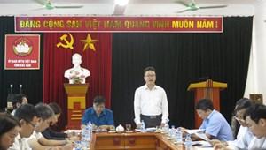 Đoàn khảo sát của UBTƯ MTTQ Việt Nam làm việc tại Bắc Kạn