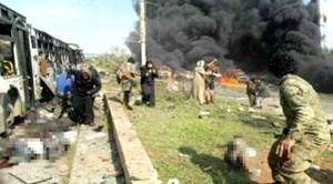 Đoàn xe sơ tán thường dân ở Syria bị đánh bom