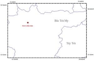 Động đất 2,4 độ Richter tại huyện Bắc Trà My