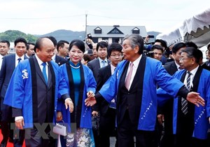 Thủ tướng Nguyễn Xuân Phúc dự Lễ hội hoa sen Nhật Bản-Việt Nam
