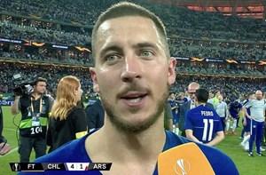 Eden Hazard nói lời chia tay Chelsea ngay khi đăng quang Europa League