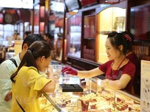 SJC và vàng Rồng Thăng Long cùng giảm theo giá vàng thế giới