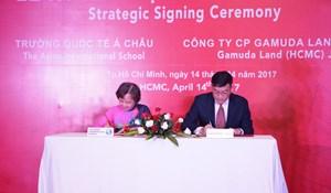 Gamuda Land ký kết chiến lược với trường quốc tế Á Châu