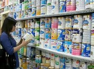 Giá sữa cho trẻ em giảm