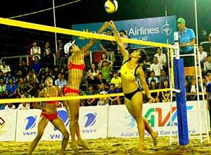 Giải Bóng chuyền bãi biển nữ châu Á tại Cần Thơ có tổng giải thưởng là 15.000 USD