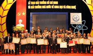 Giải thưởng Hồ Chí Minh, Giải thưởng Nhà nước về KH-CN: 61 công trình, cụm công trình được đề nghị xét tặng