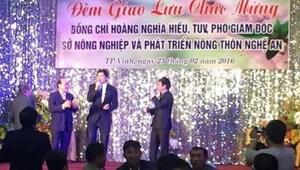 Giám đốc Sở NN&PTNT Nghệ An lên tiếng vụ tiệc mừng tân PGĐ