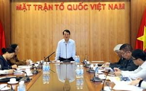 Góp ý báo cáo chính trị Đại hội MTTQ Việt Nam lần thứ IX