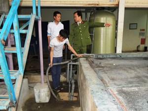 Hà Nam: Bắt quả tang công ty xả nước thải chưa xử lý ra môi trường