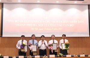 Hà Nội bổ nhiệm 2 Giám đốc Sở