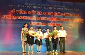 Hà Nội: Tuyên dương 61 sáng tạo khoa học tiêu biểu của thanh thiếu nhi