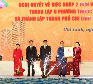 Hải Dương: Tổ chức lễ công bố thành lập TP Chí Linh