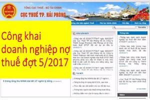 Hải Phòng: Tiếp tục nêu tên 149 doanh nghiệp nợ thuế